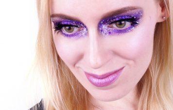 Lidschatten 1x1 Lila Silber Make up