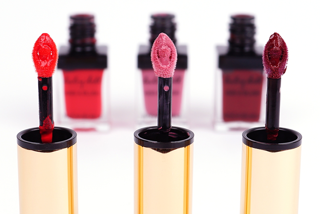 "<span style=""font-size: large;"">YSL Kiss & Blush</span> <br>Rouge Effrontee, Rose Epicurien & Prune Impertinente"