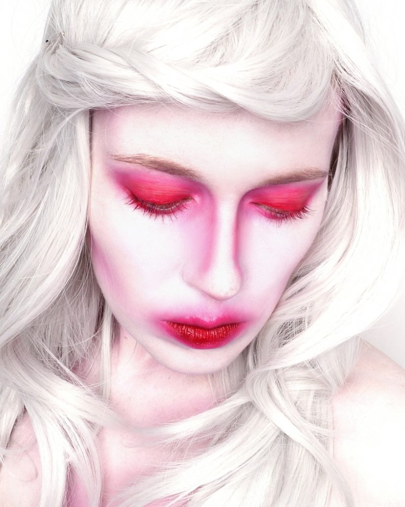 Halloween Makeup White Red