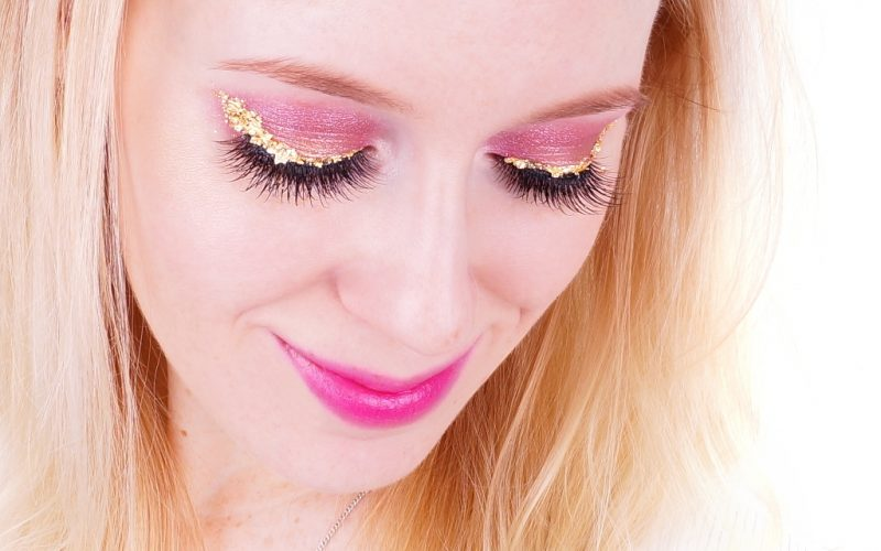Lidschatten 1x1 Make up Pink und Gold