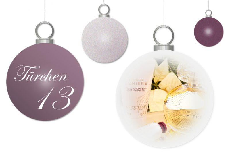 <span style='font-size: large;'>Weihnachtszauber 2017</span><br />Türchen 13 mit L'Occitane