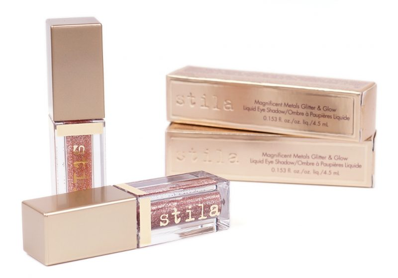 Stila Magnificent Metals Glitter & Glow Liquid Eye Shadow Smouldering Satin & Kitten Karma