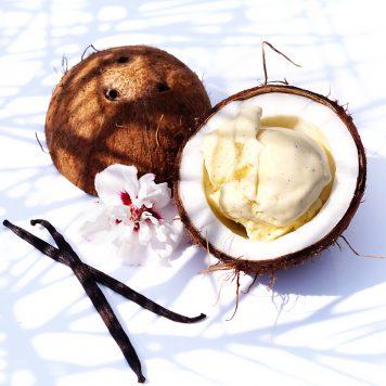 Vanille-Kokos-Eis