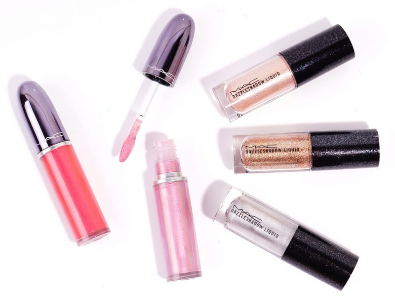 MAC Dazzleshadow Liquid & Grand Illusion Glossy Liquid Lipcolour