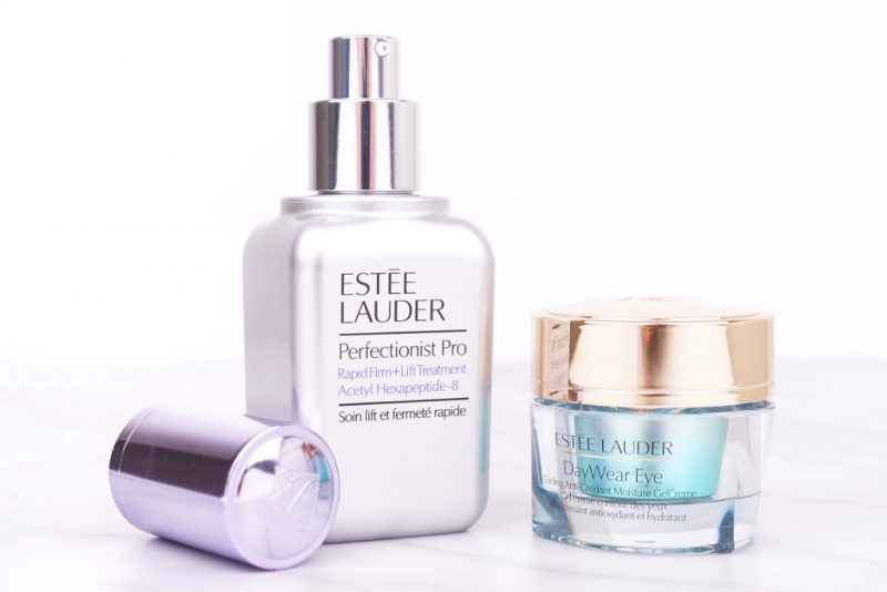 <span style='font-size: large;'>Estée Lauder Pflege</span><br />DayWear Eye Cooling Anti-Oxidant Moisture GelCreme & Perfectionist Pro Rapid Firm + Lift Treatment