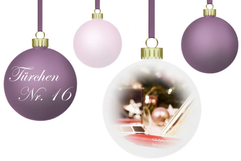 <span style='font-size: large;'>Weihnachtszauber 2018 </span><br />Türchen Nr. 16 mit Clarins