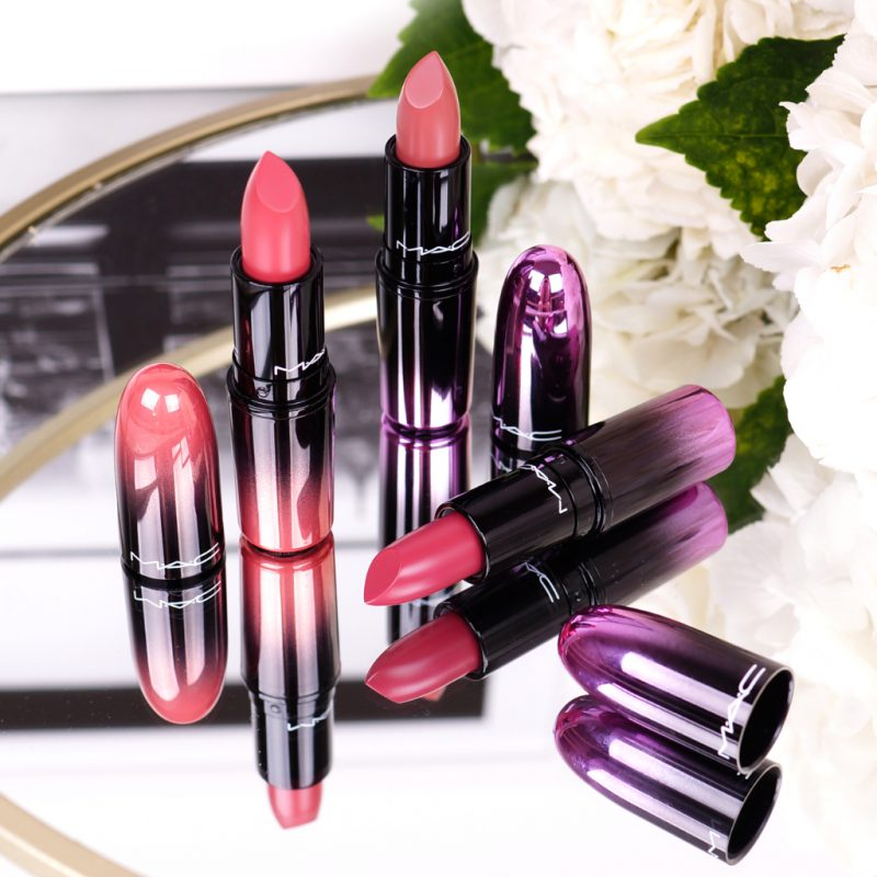 <span style='font-size: large;'>MAC Love Me Lipsticks </span><br />Hey Frenchie!, Laissez-Faire und Under The Covers