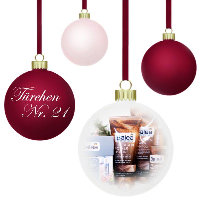 <span style='font-size: large;'>Weihnachtszauber 2019 </span><br />Türchen N° 21 mit Balea