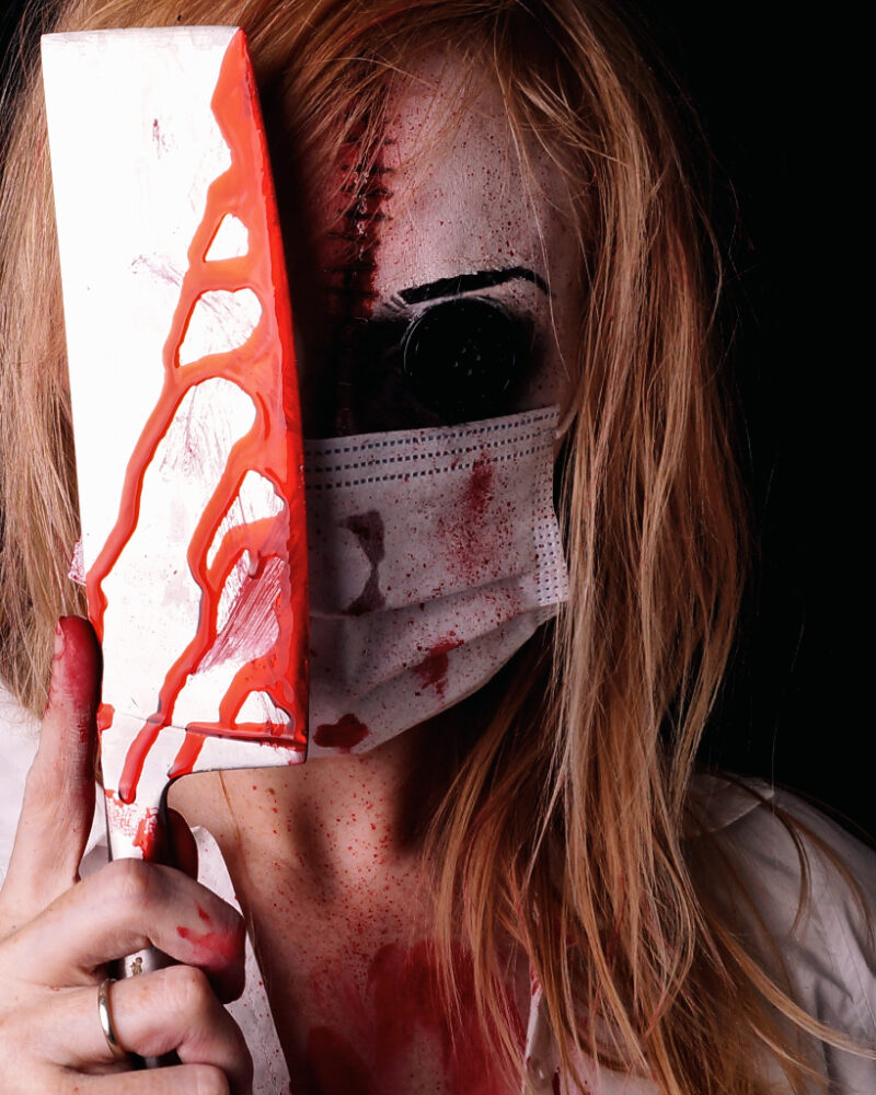 Halloween 2020 Corona Mundschutz Bloody Nurse
